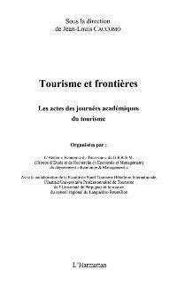 Hors-collection: Tourisme et frontieres, CACCOMO JEAN-LOUIS