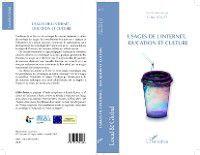 Hors-collection: Usages de l'internet, education et culture, Gilles Rouet