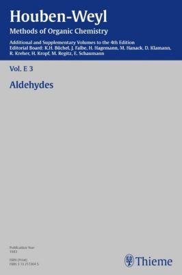 Houben-Weyl Methods of Organic Chemistry Vol. E 3, 4th Edition Supplement