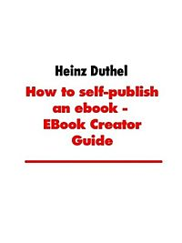 How to self-publish an ebook - EBook Creator Guide