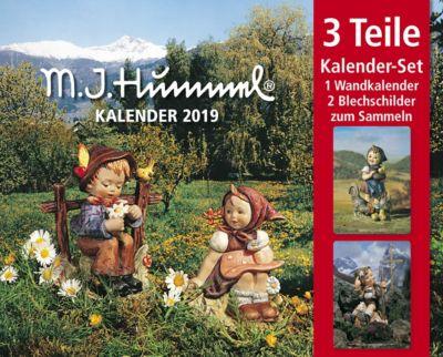 Hummel Kal. 2019  + 2 Blechschilder