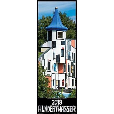 Hundertwasser architektur streifenkalender 2018 for Hundertwasser architektur