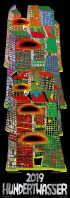 Hundertwasser Streifenkalender Art 2019, Friedensreich Hundertwasser