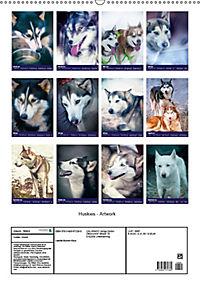 Huskies - Artwork (Wandkalender 2019 DIN A2 hoch) - Produktdetailbild 13