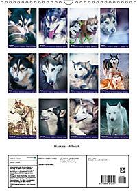 Huskies - Artwork (Wandkalender 2019 DIN A3 hoch) - Produktdetailbild 13