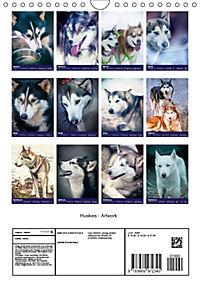 Huskies - Artwork (Wandkalender 2019 DIN A4 hoch) - Produktdetailbild 13