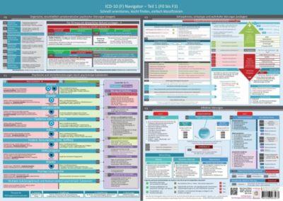 ICD-10 (F) Navigator - Ideal zur Prüfungsvorbereitung für Heilpraktiker Psychotherapie (F0 bis F3), Wandposter, Samuel Cremer, Christian Schumacher