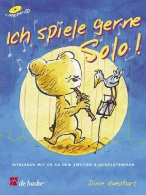 Ich spiele gerne Solo!, für Sopran-/Tenorblockflöte, m. Audio-CD, Dinie Goedhart