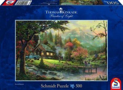 Idylle am Fluss (Puzzle), Thomas Kinkade