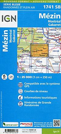 IGN Karte, Mézin Montréal, Gabarret - Produktdetailbild 1