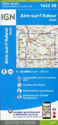 IGN Karte, Serie Bleue Aire sur l'Adour, Riscle