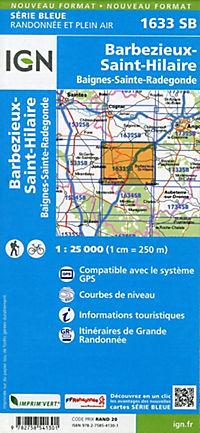IGN Karte, Serie Bleue Barbezieux-Saint-Hilaire.Baignes-Sainte-Radegonde - Produktdetailbild 1
