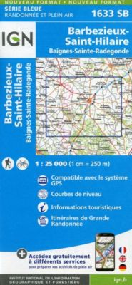 IGN Karte, Serie Bleue Barbezieux-Saint-Hilaire.Baignes-Sainte-Radegonde