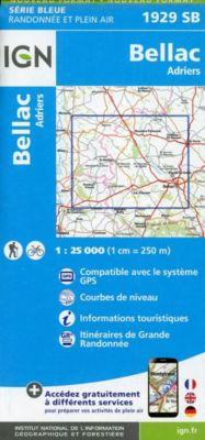 IGN Karte, Serie Bleue Bellac Adriers