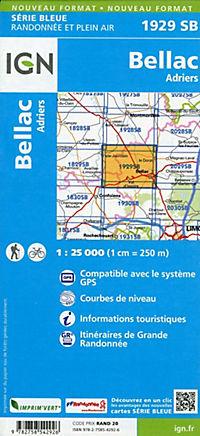 IGN Karte, Serie Bleue Bellac Adriers - Produktdetailbild 1