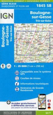 IGN Karte, Serie Bleue  Boulogne sur-Gesse. Trie-sur-Baïse