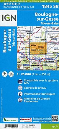 IGN Karte, Serie Bleue  Boulogne sur-Gesse. Trie-sur-Baïse - Produktdetailbild 1