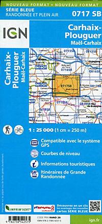 IGN Karte, Serie Bleue Carhaix-Plouguer Maël-Carhaix - Produktdetailbild 1