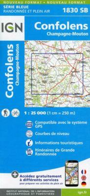 IGN Karte, Serie Bleue Confolens Champagne-Mouton