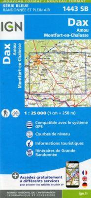 IGN Karte, Serie Bleue Dax Amou Montfort-en-Chalosse