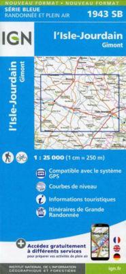 IGN Karte, Serie Bleue I'Isle Jourdain. Gimont