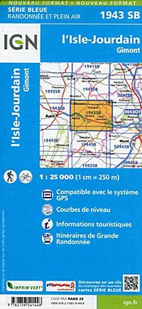 IGN Karte, Serie Bleue I'Isle Jourdain. Gimont - Produktdetailbild 1