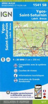 IGN Karte, Serie Bleue Labrit.Brocas.Ygos-St.Saturnin