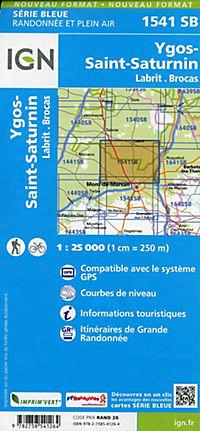 IGN Karte, Serie Bleue Labrit.Brocas.Ygos-St.Saturnin - Produktdetailbild 1