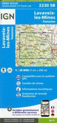 IGN Karte, Serie Bleue Lavaveix-les-Mines, Pontarion