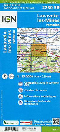 IGN Karte, Serie Bleue Lavaveix-les-Mines, Pontarion - Produktdetailbild 1