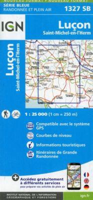 IGN Karte, Serie Bleue Luçon, Saint-Michel-en-l'Herm