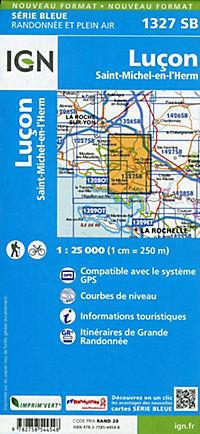 IGN Karte, Serie Bleue Luçon, Saint-Michel-en-l'Herm - Produktdetailbild 1