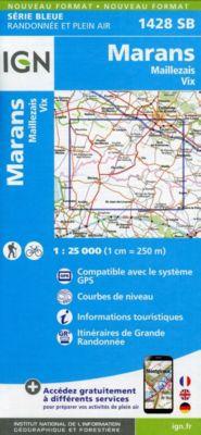 IGN Karte, Serie Bleue Marans Maillezais, Vix