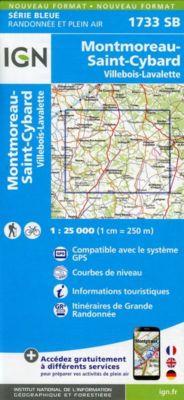 IGN Karte, Serie Bleue Montmoreau, St-Cybard, Villebois-Lavalette
