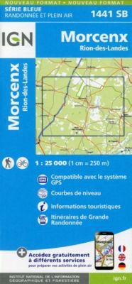 IGN Karte, Serie Bleue Morcenx des Rion-des-Landes