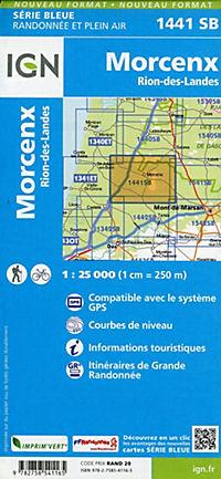 IGN Karte, Serie Bleue Morcenx des Rion-des-Landes - Produktdetailbild 1