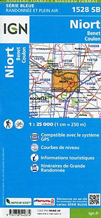 IGN Karte, Serie Bleue Niort Benet Coulon - Produktdetailbild 1