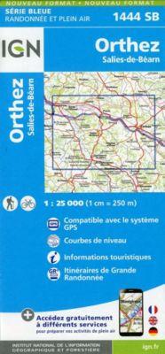 IGN Karte, Serie Bleue Orthez Salies-de-Béarn