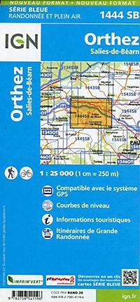 IGN Karte, Serie Bleue Orthez Salies-de-Béarn - Produktdetailbild 1