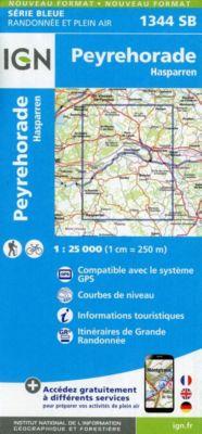 IGN Karte, Serie Bleue Peyrehorade, Hasparren