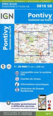 IGN Karte, Serie Bleue Pontivy Guémené