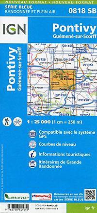 IGN Karte, Serie Bleue Pontivy Guémené - Produktdetailbild 1