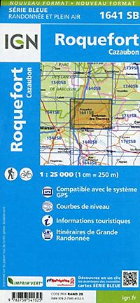 IGN Karte, Serie Bleue Roquefort, Cazaubon - Produktdetailbild 1
