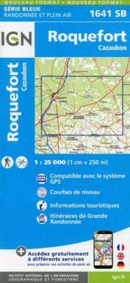 IGN Karte, Serie Bleue Roquefort, Cazaubon