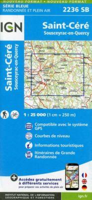 IGN Karte, Serie Bleue Saint Cere Sousceyra