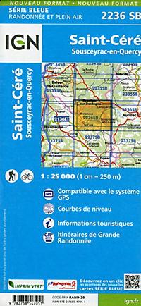 IGN Karte, Serie Bleue Saint Cere Sousceyra - Produktdetailbild 1