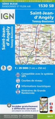 IGN Karte, Serie Bleue St.Jean d'Angely, Tonnay-Boutonne