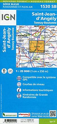 IGN Karte, Serie Bleue St.Jean d'Angely, Tonnay-Boutonne - Produktdetailbild 1