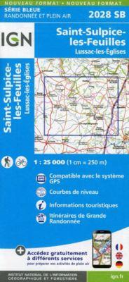IGN Karte, Serie Bleue St-Sulpice-les-Feuilles.Lussac-les-Églises