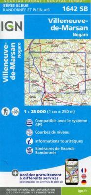 IGN Karte, Serie Bleue Villeneuve de Marsan, Nogaro